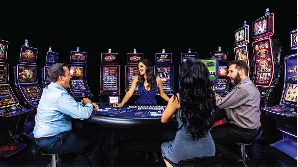 Pelaajia kasinolla
